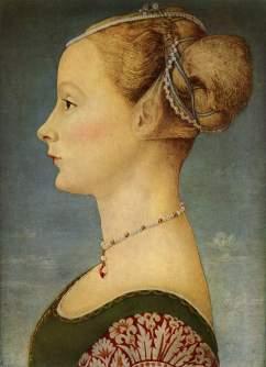 Pollaiolo, ritratto di giovane dama