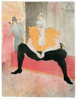 La Clownesse assise